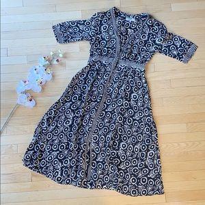 SEA brand dress size 6 black and white maxi